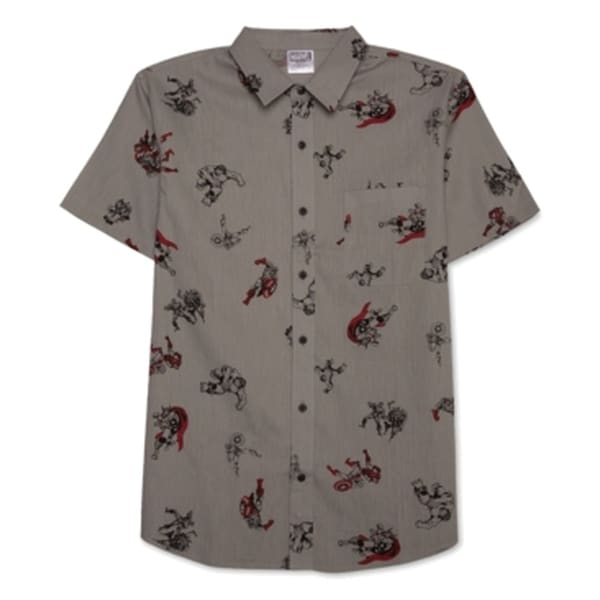344deb951 Shop Marvel NEW Hybrid Mens Size Medium M Avengers Unite Button Down Shirt  - Free Shipping On Orders Over $45 - Overstock - 20720177