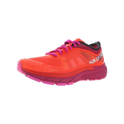 Salomon Womens Sonic RA Max Running Shoes Gym Athletic - Fiery Coral/Cerise/Pink Glo