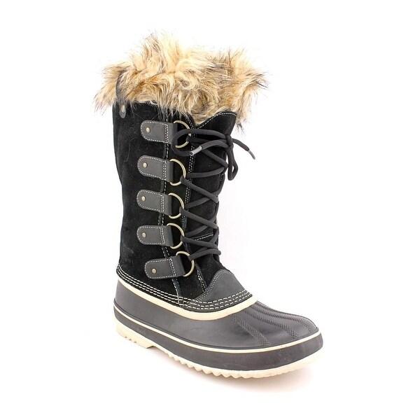Sorel Joan Of Arctic Women Round Toe Suede Black Winter Boot