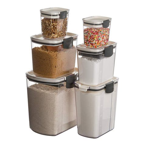 Prepworks by Progressive 6-Piece ProKeeper Set, Includes Flour, Granulated Sugar, Brown Sugar, Powdered Sugar, & 2 Mini Keepers