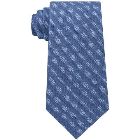 Calvin Klein Mens Ikat Self-Tied Necktie - One Size