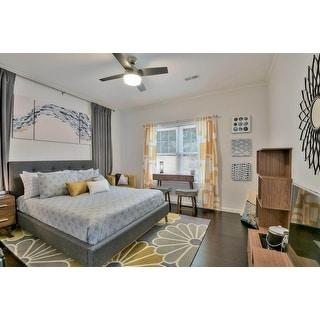 Carson Carrington Kervo Mid-century Fabric Platform Bed