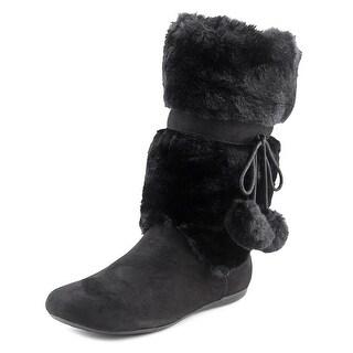 Report Emme Women Round Toe Suede Black Winter Boot