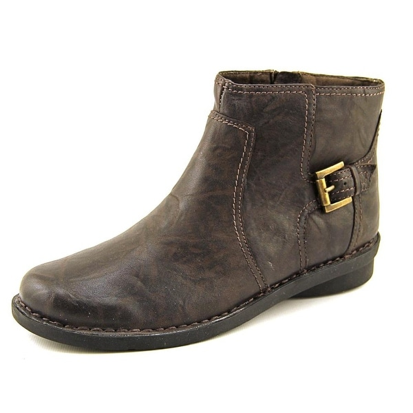 Clarks Nikki Star Q Women Round Toe Leather Brown Ankle Boot