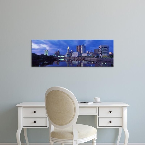 Easy Art Prints Panoramic Images's 'USA, Ohio, Columbus, Scioto River' Premium Canvas Art