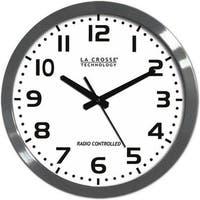 La Crosse Technology 16 Inch Atomic Metal Analog Metal Wall Clock -
