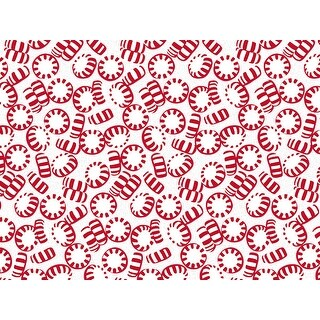 """Pack Of 240, Peppermint Holiday Recycled Christmas Printed Tissue Paper 20"""" X 30"""" Sheets Made In Usa"""