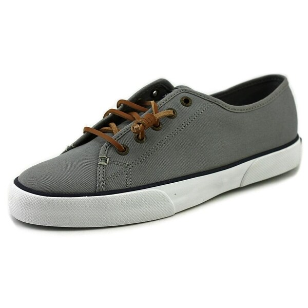 Sperry Top Sider Pier View Core Women Round Toe Canvas Gray Sneakers