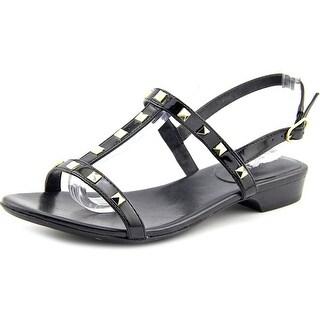 Vaneli Belita Women Open Toe Patent Leather Sandals