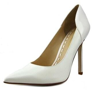 Enzo Angiolini Castalia Women Pointed Toe Leather White Heels