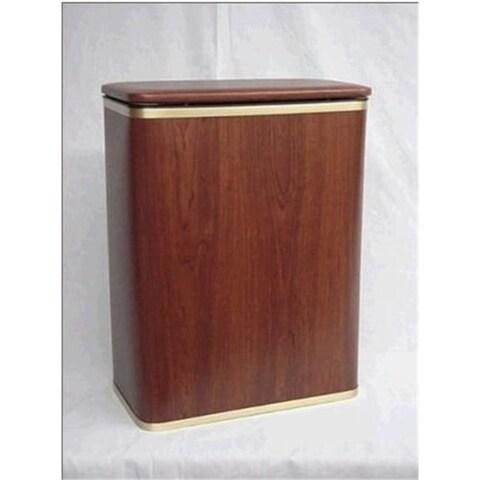 Redmon 233OASV Woodgrain Vinyl Hamper - Oak-Silver
