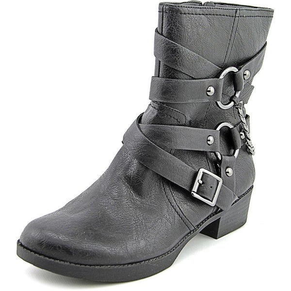Jessica Simpson Goldi Round Toe Synthetic Mid Calf Boot