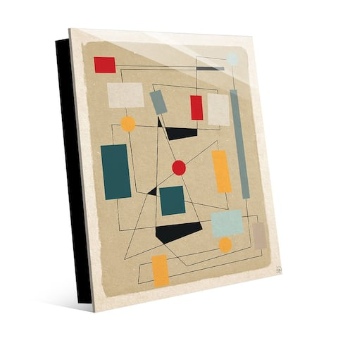 Kathy Ireland Little Places Linear Abstract on Acrylic Wall Art Print