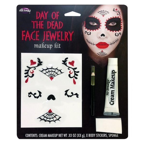 Day of the Dead Face Jewelry Makeup Kit - Multi