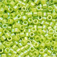Miyuki Delica Seed Beads, 11/0 Size, 7.2 Grams, Opaque Chartreuse AB DB169