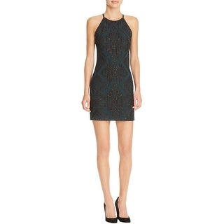 Parker Womens Jaden Casual Dress Jacquard Metallic