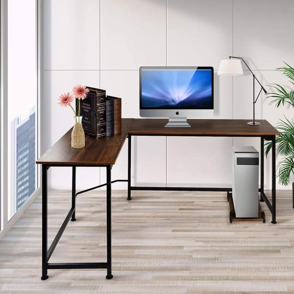 Shop VECELO Home Office Computer Table L Shaped Corner Table