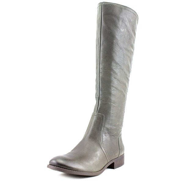 Jessica Simpson Randee Women Round Toe Leather Gray Knee High Boot