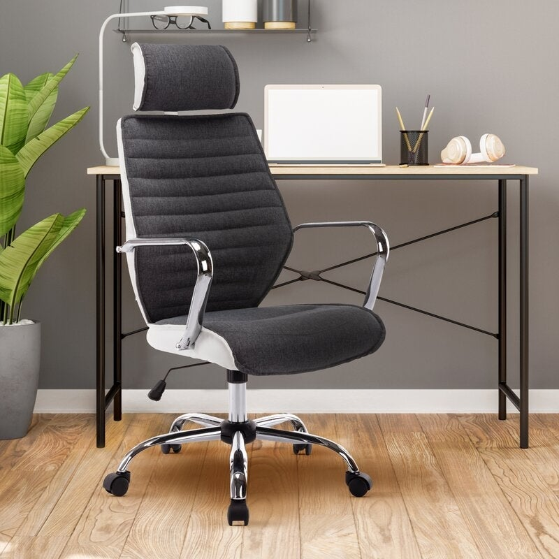 Shop Archiology Grey Home Office Chair With Lumbar Support And Arms Overstock 32137618