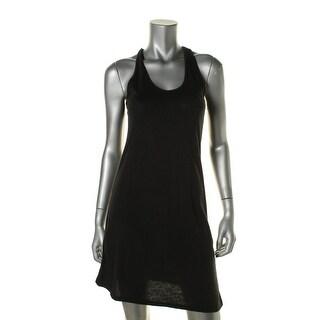 Alternative Apparel Womens Knit Twist Sleeveless Tank Dress - S