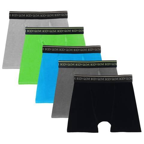 Body Glove 5 Pack Boys Boxer Briefs Underwear for Boys Little to Big Kids Boxers