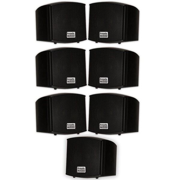 Acoustic Audio AA321B Indoor Black Mount Speakers 1400W 7 Piece Set AA321B-7S
