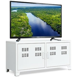 Link to Gymax Entertainment Center TV Stand Two Doors Media Console Cabinet Similar Items in TV Stands & Entertainment Centers