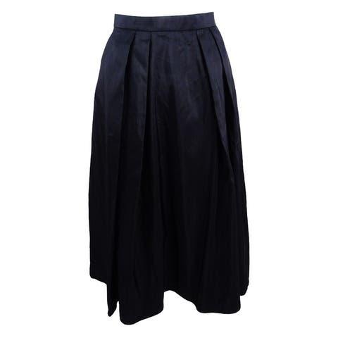 Alex Evenings Women's A-Line Pleated Skirt (M, Black) - Black - M