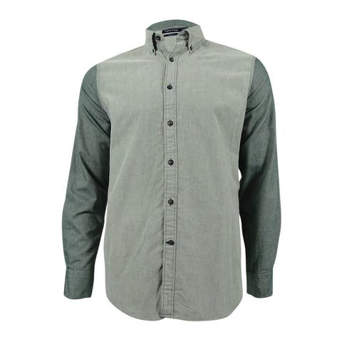 Nautica Men's Slim-Fit Colorblocked Button-Down Shirt