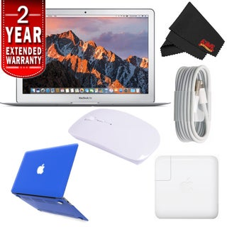 "Apple 13.3"" MacBook Air 256GB SSD #MQD42LL/A (Newest Version) With 2 Year Extended Warranty Starter Bundle (Option: Blue)"