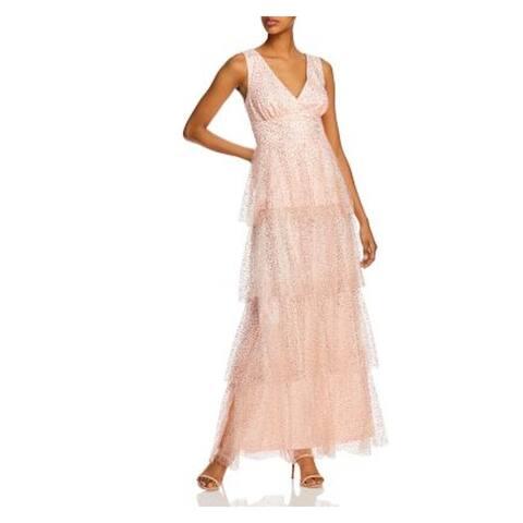 LAUNDRY Pink Sleeveless Full-Length Dress 6