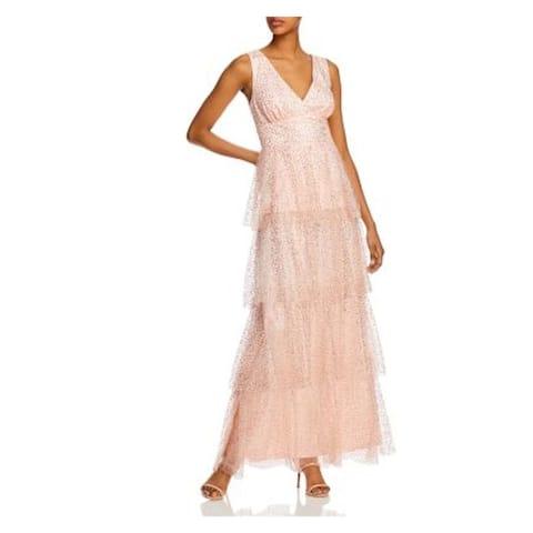 LAUNDRY Pink Sleeveless Full-Length Dress 4