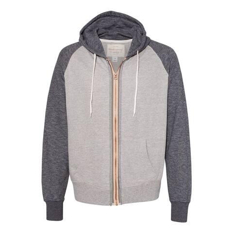 Marled Raglan Full-Zip Sweatshirt