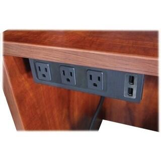 AC Power Center Outlet Under Plastic Desk - Black