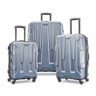 Samsonite Centric 3 Piece Expandable Hardside Spinner Luggage Set, Blue Slate