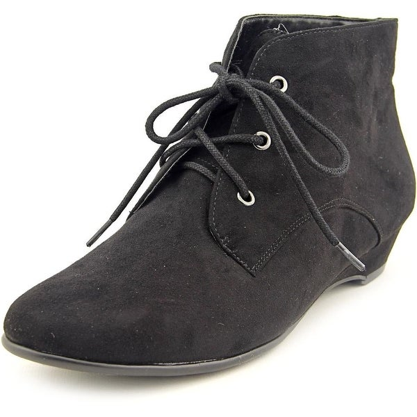 Aerosoles Soterday Night Women Round Toe Canvas Black Ankle Boot