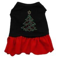 Christmas Tree Rhinestone Dress Black with Red XL (16)