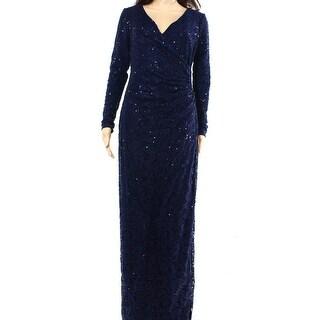 Lauren Ralph Lauren NEW Blue Womens Size 4 Sequined Lace Maxi Dress