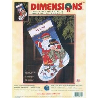 Santa & Snowman Stocking Counted Cross Stitch Kit