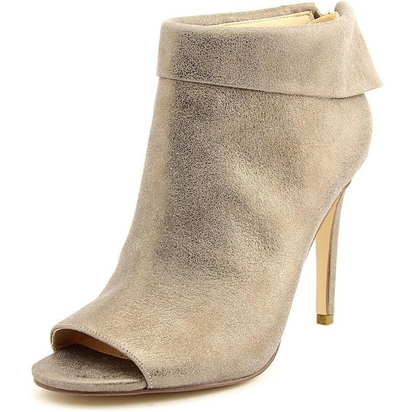Ivanka Trump Derri Women Peep-Toe Leather Gold Ankle Boot