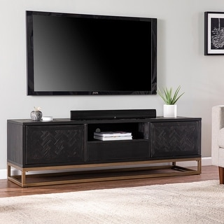 Link to Carbon Loft Delgany Contemporary Black TV/Media Stand Similar Items in TV Stands & Entertainment Centers