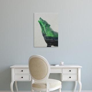 Easy Art Prints Andreas Lie's 'Howling in the Aurora Borealis' Premium Canvas Art