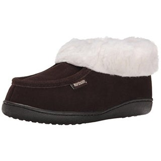 Northside Womens Duxbury Suede Round Toe Moccasin Slippers