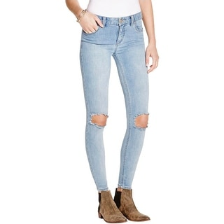 Free People Womens Skinny Jeans Denim Medium Wash