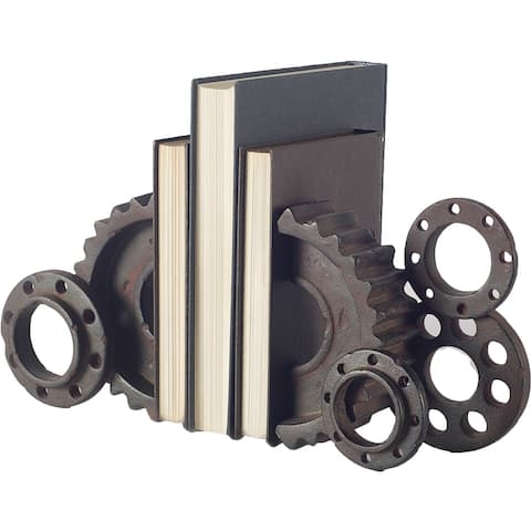 Mercana Cogsworth Industrial Gear Bookend - 13.6L x 4.0W x 8.1H