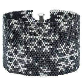 Peyote Bracelet-Metallic Sparkly Snowflakes - Exclusive Beadaholique Jewelry Kit