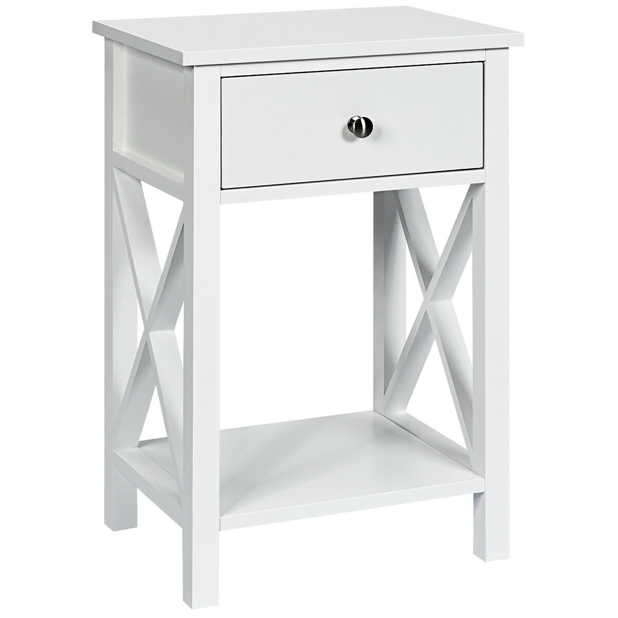 Nightstand Bedside End Table Bedroom Side Stand Accent Modern Storage 3//4 Drawer