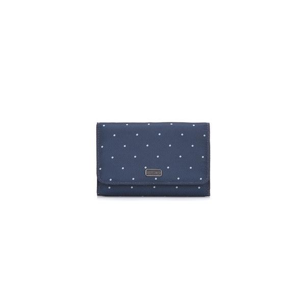 Daysafe Trifold Wallet - Navy Polka Dot RFID Blocking Trifold Wallet