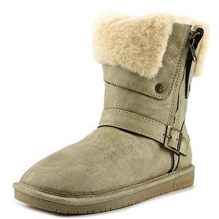 Bearpaw Madison Round Toe Leather Brown Winter Boot