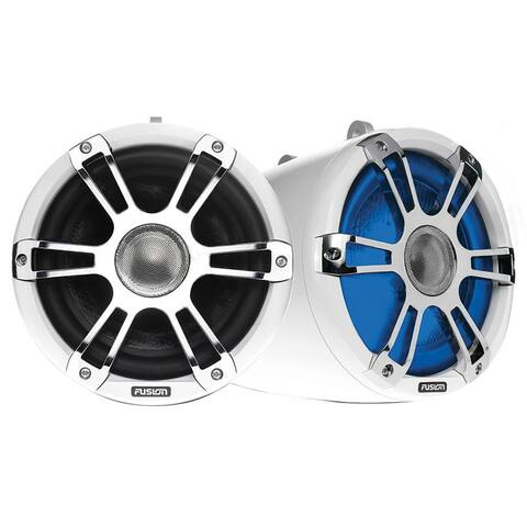 Fusion SG-FT88SPW 8.8Inch Wake Tower Sports Marine Speakers - White and Chrome 010-02082-10 Marine Speaker